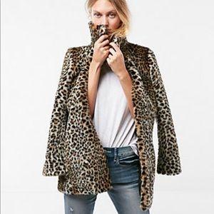 Express Leopard Swing Coat Brand New Size XS